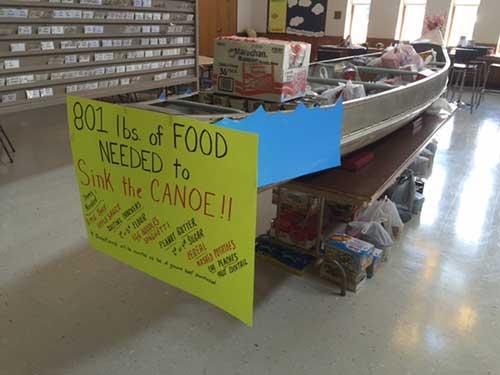 2015 Food Drive - Sink the Canoe!
